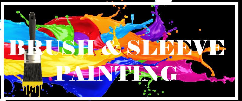 "Brush and Sleeve Painting Company logo."""