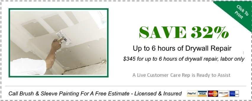 """alt=""""coupon for drywall repair offered by Brush and sleeve"""""""